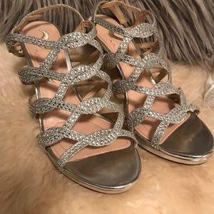 Nina Rhinestone Strappy Heel